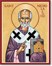Saint Nicholas icon from Monastery Icons