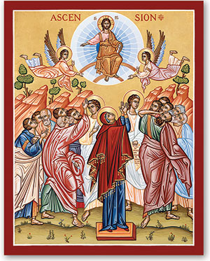 Ascension icon from Monastery Icons