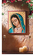 Monastery Icons Face of Our Lady of Guadalupe