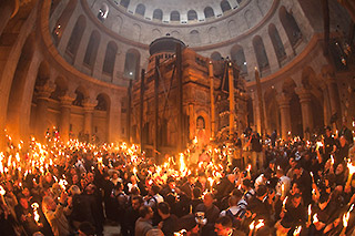 The Holy Fire at the Holy Sepulchre