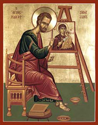Saint Luke painting the Virgin Mary