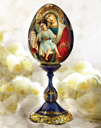 Hand painted Icon Egg - large