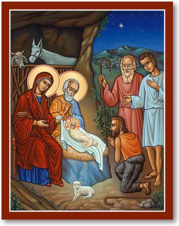 Christmas Icons Adoration Of The Shepherds Icon