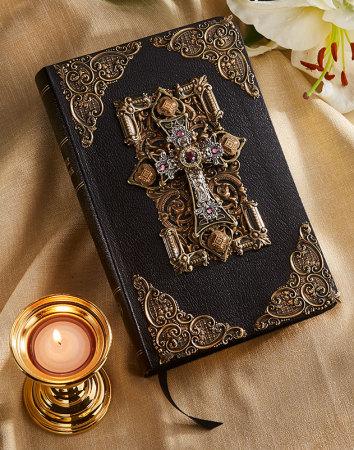 Amethyst Crystals Jeweled KJV Bible