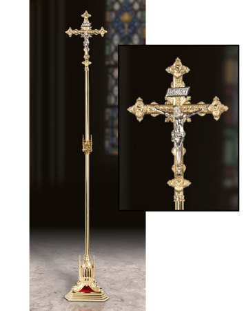 Cathedral Style Processional Cross