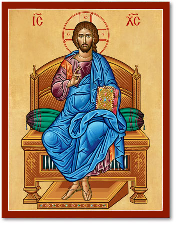 Icons Of Christ Christ The Enthroned Icon Monastery Icons