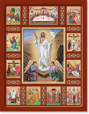 Lent And Easter Icons Christ Is Risen Story Icon