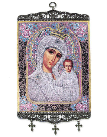 """Our Lady of Kazan Wall Hanging - 18"""""""