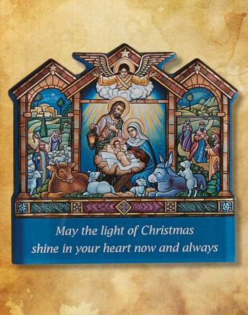 Come Let Us Adore Him Christmas Greeting Magnet