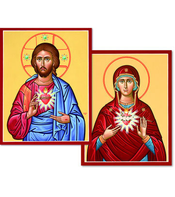 Discounted Pair - Sacred Heart & Immaculate Heart icons