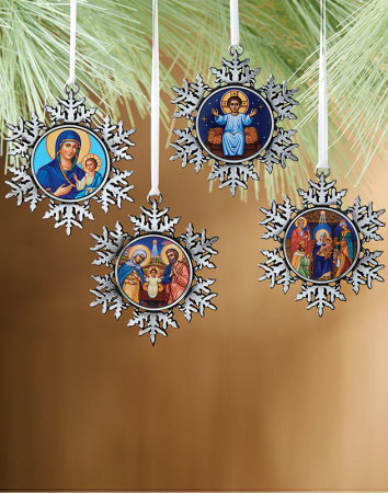 Discounted Set - 4 Pewter Ornaments