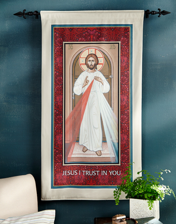 ON SALE Divine Mercy Wall Hanging, large