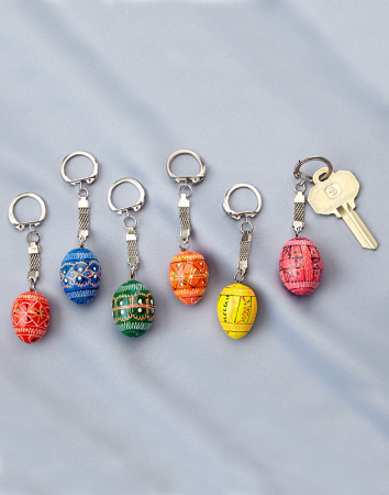 Easter icons eggs and gifts easter egg keychain set monastery easter egg keychain set negle Image collections