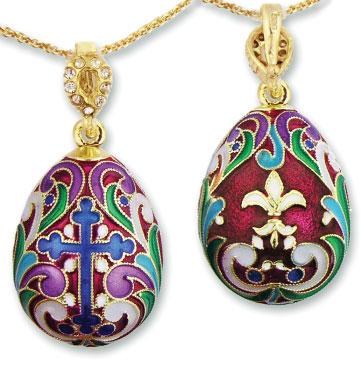 Faberge Style Egg Pendant