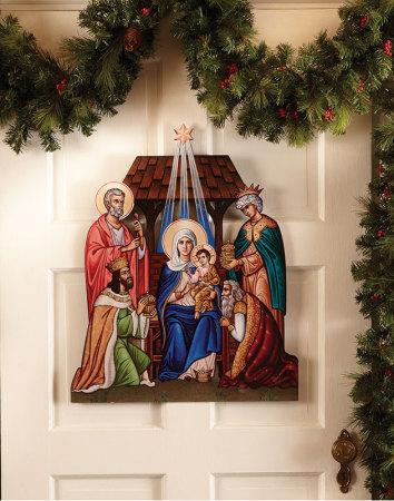 Glory to the Newborn King Door Hanging Medium