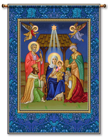 Misc christmas gifts nativity wall hanging 26 monastery icons glory to the newborn king wall hanging 26 negle Gallery