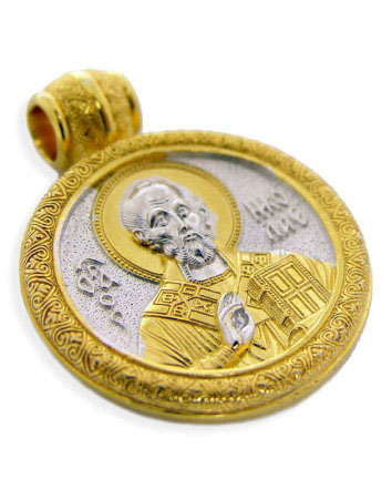 Gold-plated Saint Nicholas Medal