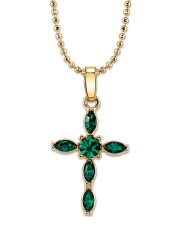 Green Crystal Cross