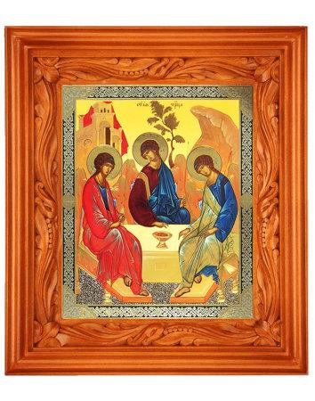 Hand Carved Shrine - Holy Trinity