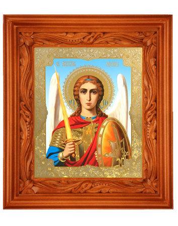 Hand Carved Shrine - Saint Michael