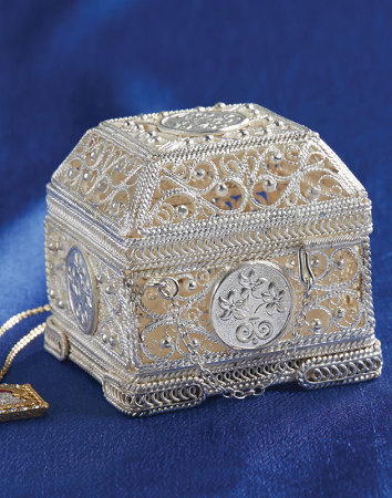 Handmade Silver Filigree Treasure Box
