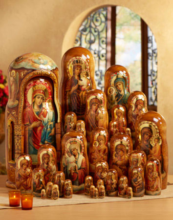 Russian Icons Heirloom Russian Nesting Doll Set