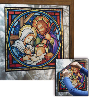 Holy Family Nativity window vinyl