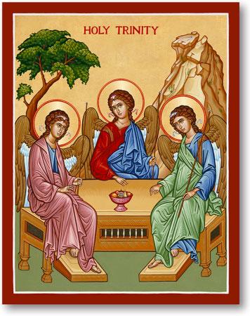 Holy Trinity icon - Rublev style