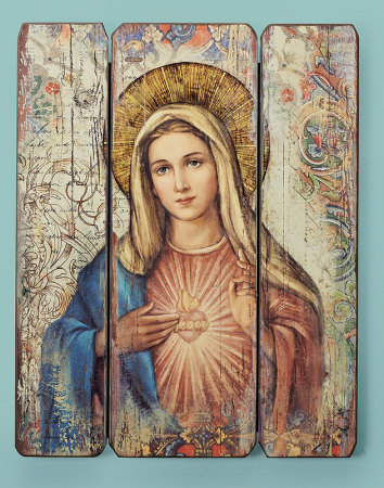 Immaculate Heart Ornamental Panel