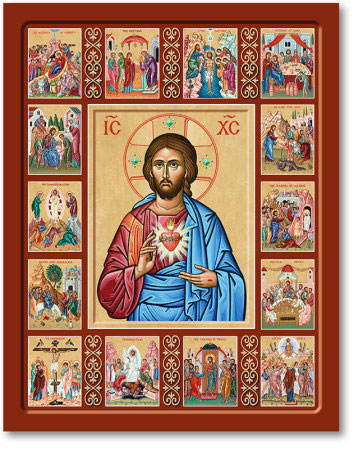 Icons Of Christ Life Of Christ Icon Sacred Heart Of