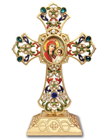 Madonna and_Child Jewelled Cross