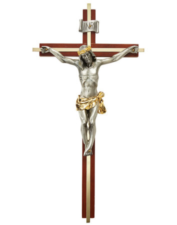 Maple and Gold Crucifix
