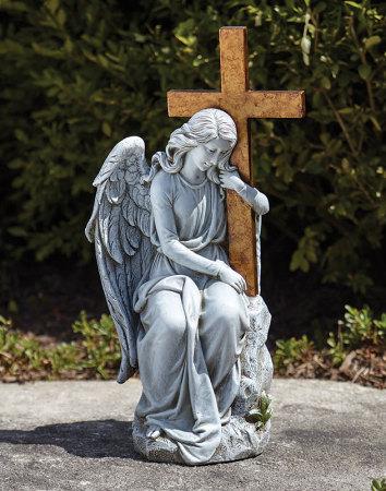 Memorial Angel with Cross