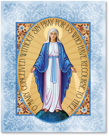 Blessed Virgin Mary Icons Miraculous Medal Plaque Icon