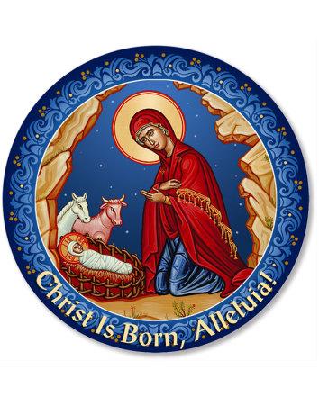 Adoring Madonna Christmas Magnet