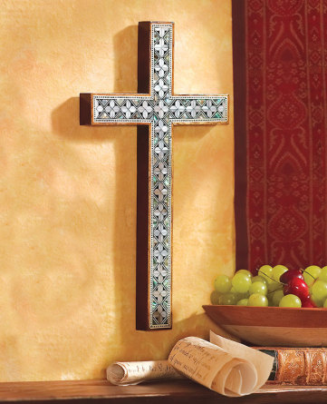 Unique Wall Crosses and Crucifixes: Mother of Pearl Wall Cross ...