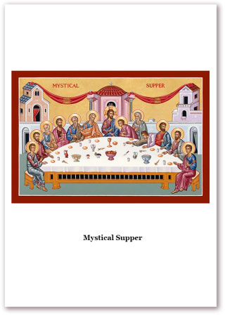Mystical Supper Holy Cards