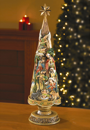 nativity tree figurine 30 inch