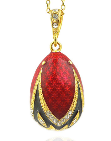 Religious jewelry rosaries red faberge style egg pendant ruby red faberge style egg pendant aloadofball Choice Image