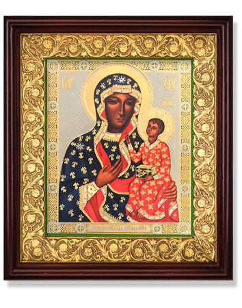Ornamental Icon Shrine - Our Lady of Czestochowa