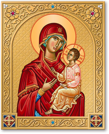 Ornamental Shrine of the Virgin & Child icon