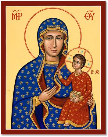 "Our Lady of Czestochowa Original Icon 20"" tall"