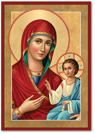 Blessed Virgin Mary Icons Our Lady Of Light Icon