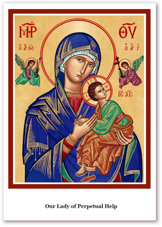 Our Lady of Perpetual Help Holy Cards
