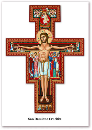 Printable Holy Cards - San Damiano Crucifix