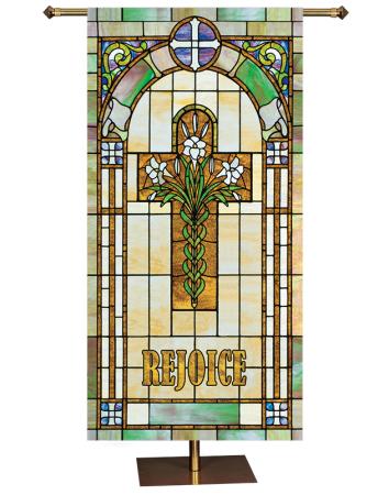 ON SALE Rejoice Cross Banner