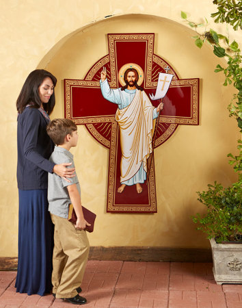 Outdoor Risen Christ Cross