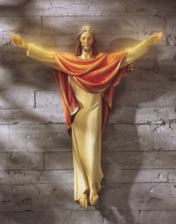 Risen Christ Wall Figurine medium