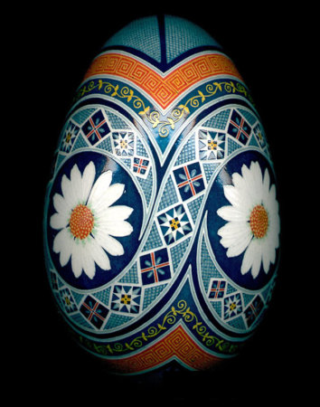 Russian Daisy Fine Art Egg