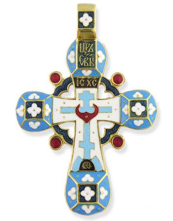 NEW Russian Enameled Flower Cross